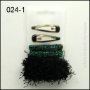 SET OF HAIR GUMS + HAIR CLIPS 024-5 GREAT PRICE!
